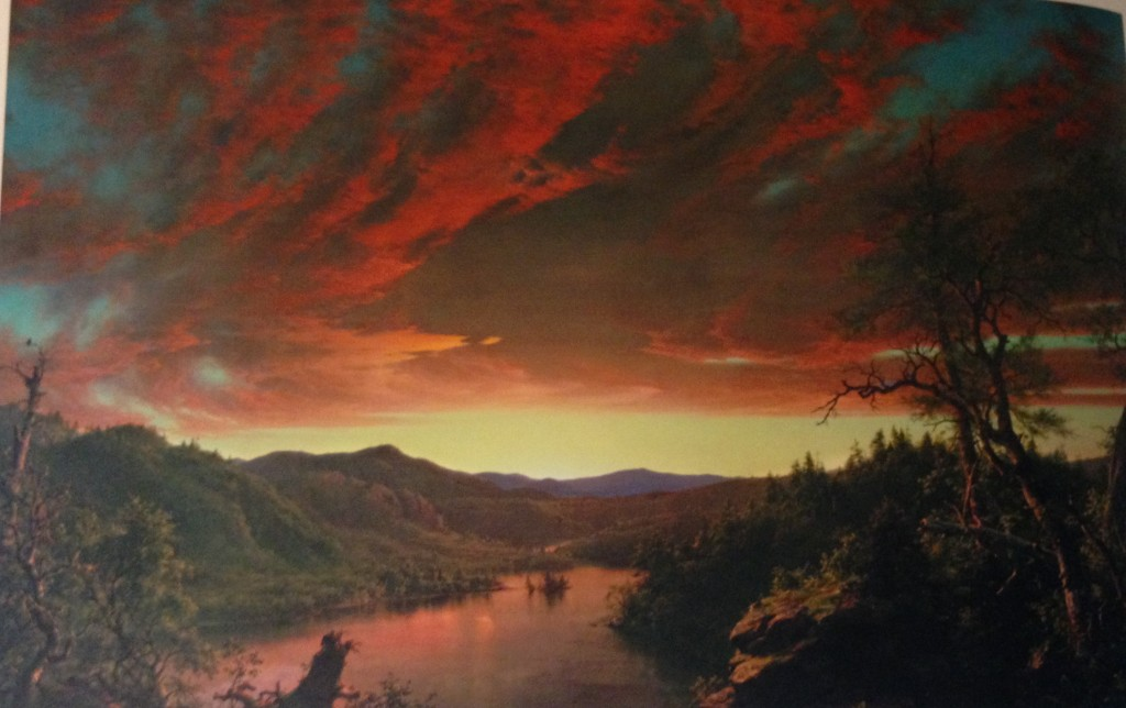 Frederic Edwin Church, Twilight in the Wilderness, 1860. Cleveland Museum of Art. (Photograph taken by author.)