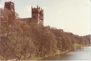 Durham Cathedral from riverbank